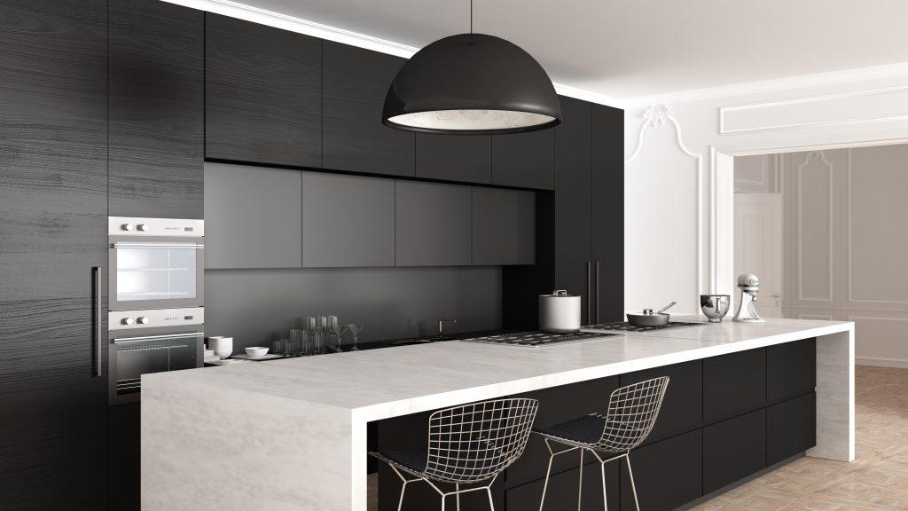 Classic-Minimalistic Black Kitchen